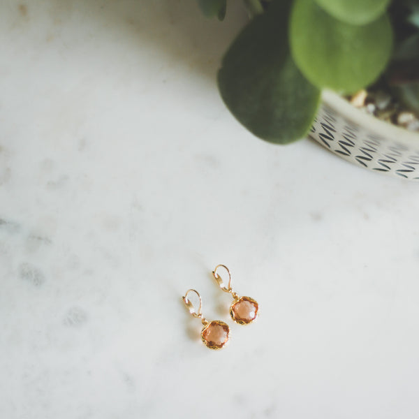 Mini Honeycomb Jewel Earrings