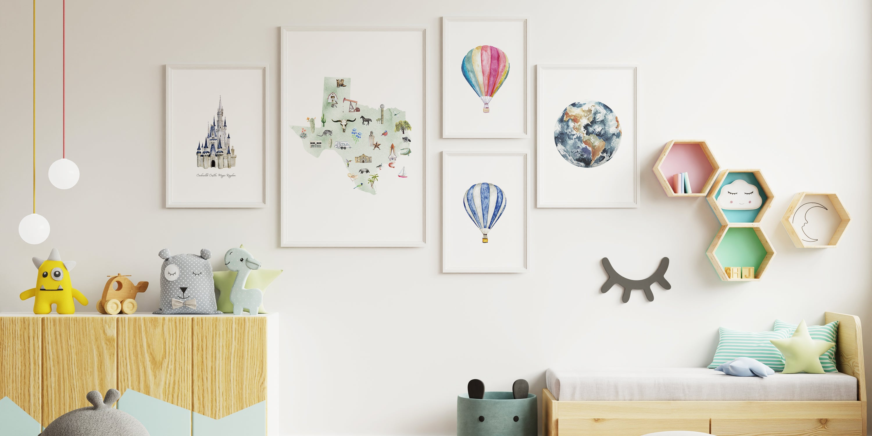 How to Design a Nursery Gallery Wall
