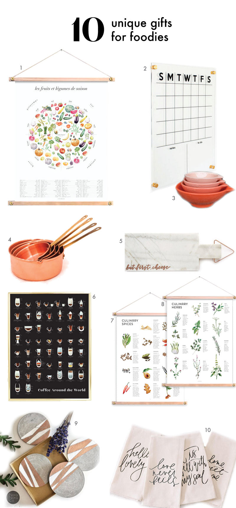10 Gifts for Foodies