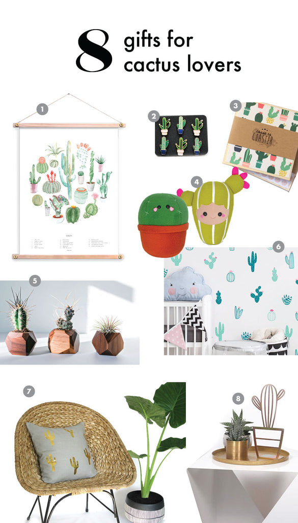 Cactus home decor gift guide