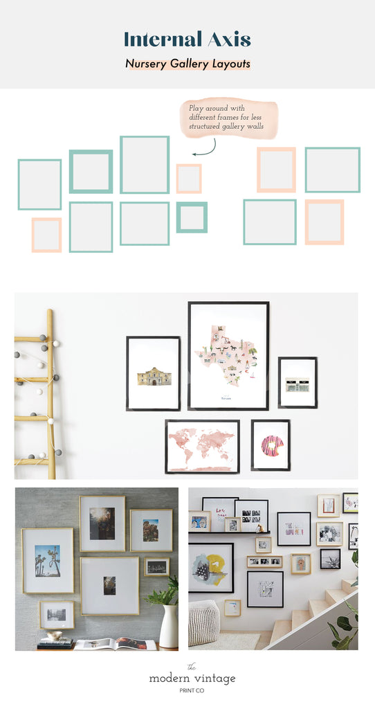 Internal Axis Nursery Gallery Wall Layout Inspiration