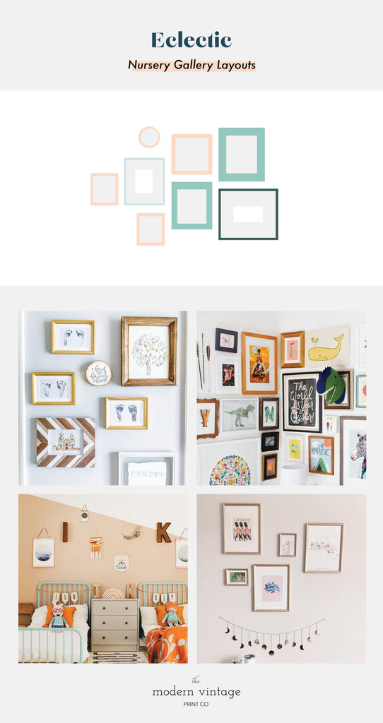 Eclectic Gallery Wall Inspiration Nursery Decor Inspiration