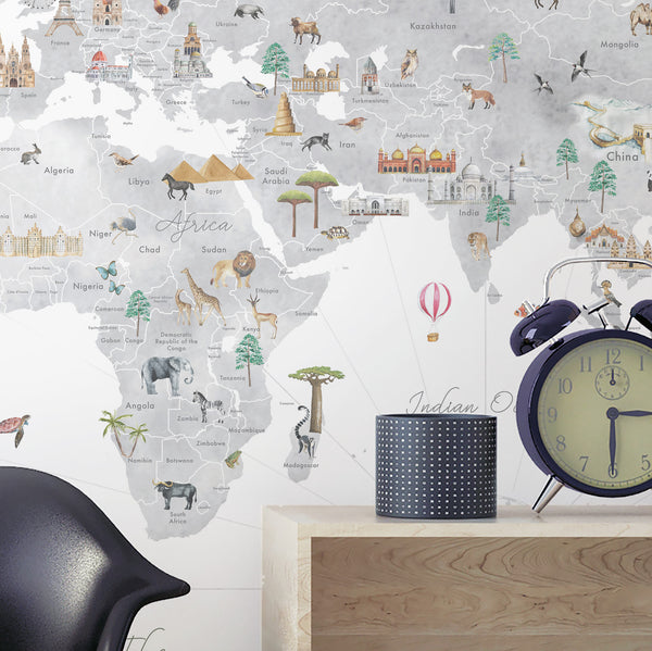 world map wall decal countries nursery inspiration mural