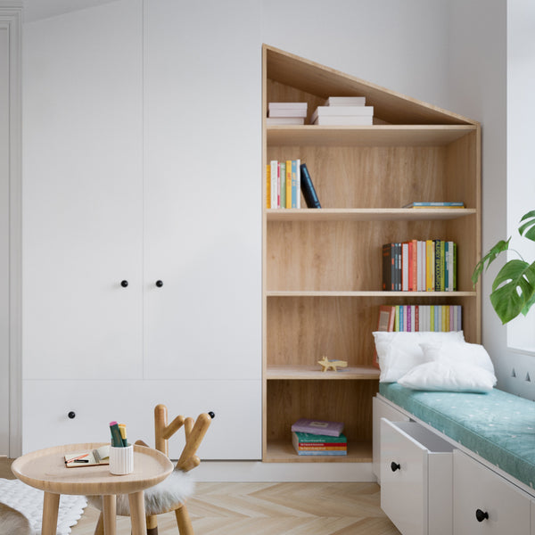 colorful books scandinavian nursery