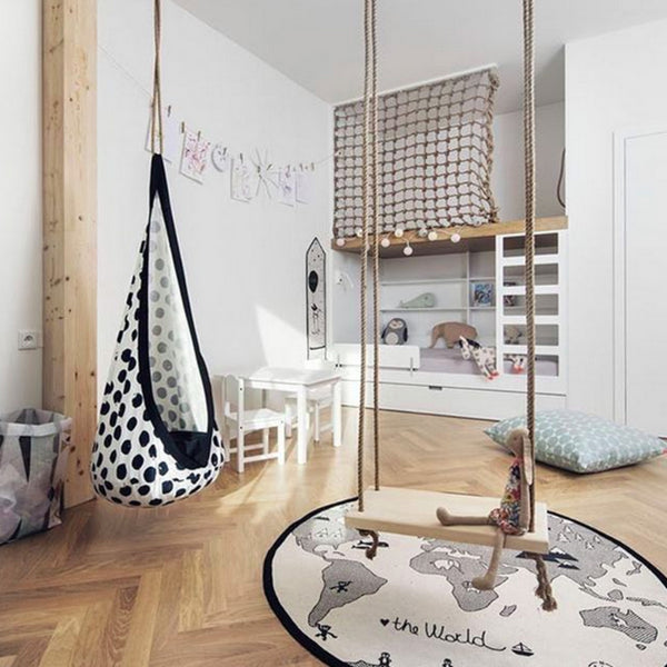 scandinavian nursery decor swings