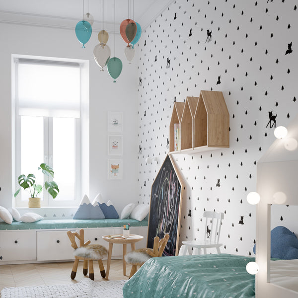 colorful scandinavian nursery