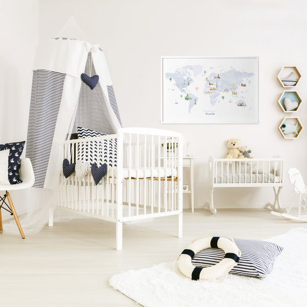 scandinavian nursery world map print