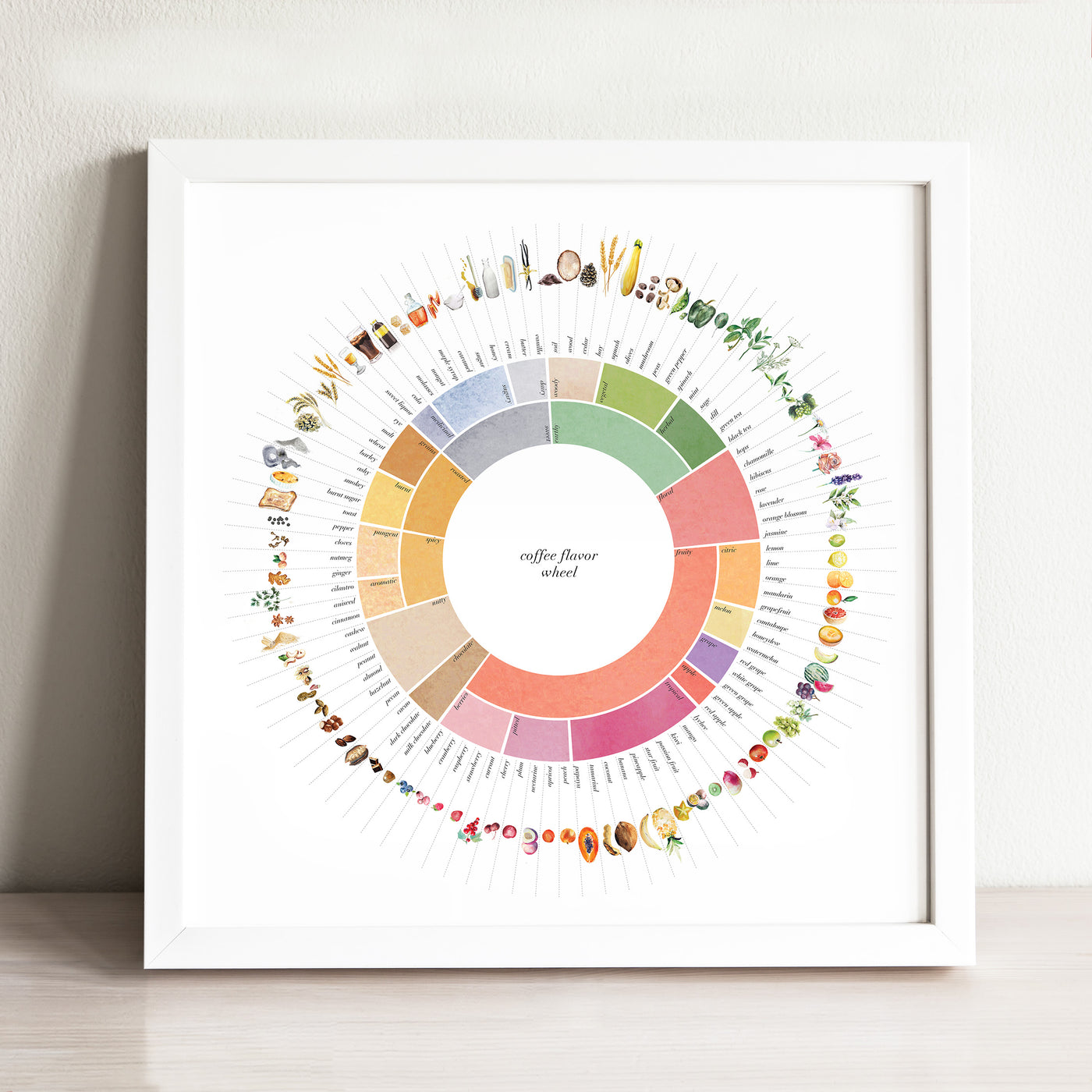 Coffee Flavor Wheel Art Print