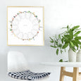 Mineral Wheel Art Print - Vegetarian Version