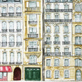 Paris Streetscape Illustrated Art Print