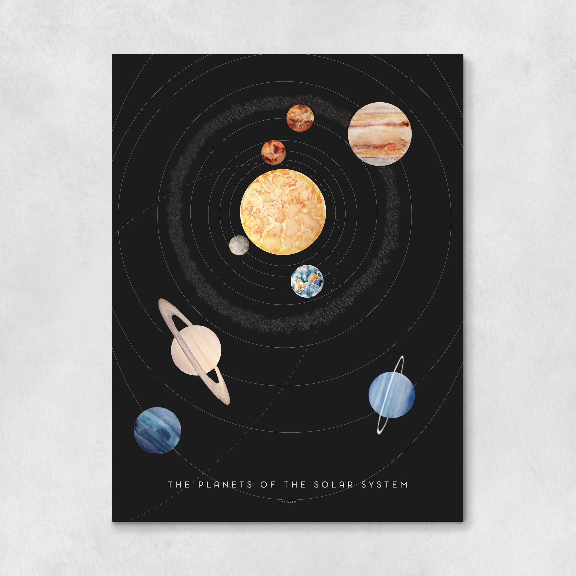 Planets of the Solar System Art Print