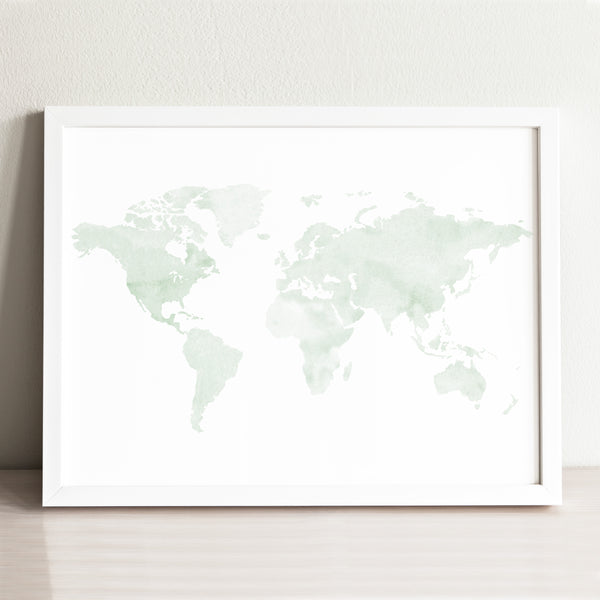 Minimalist World Map Art Print