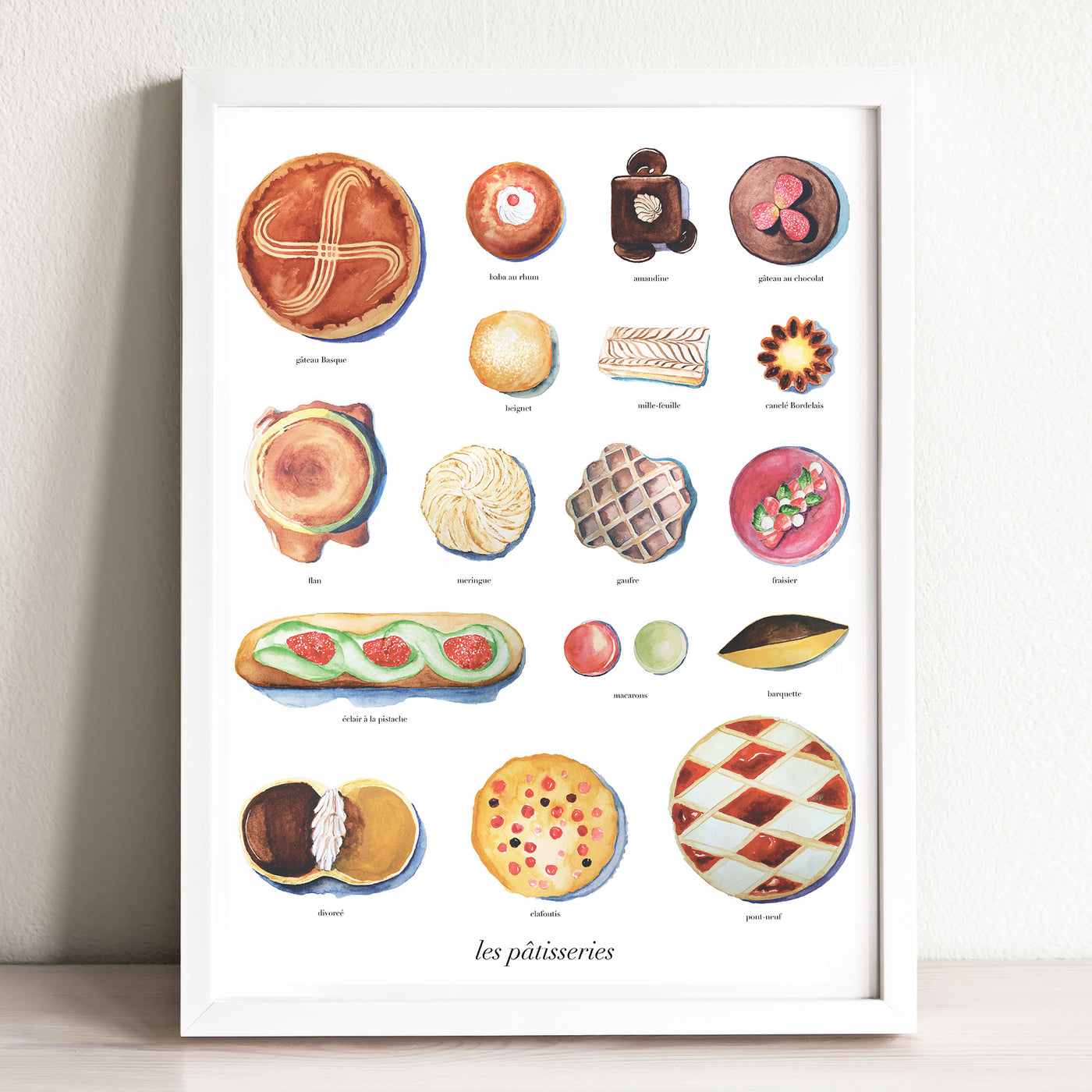 Les Patisseries Art Print