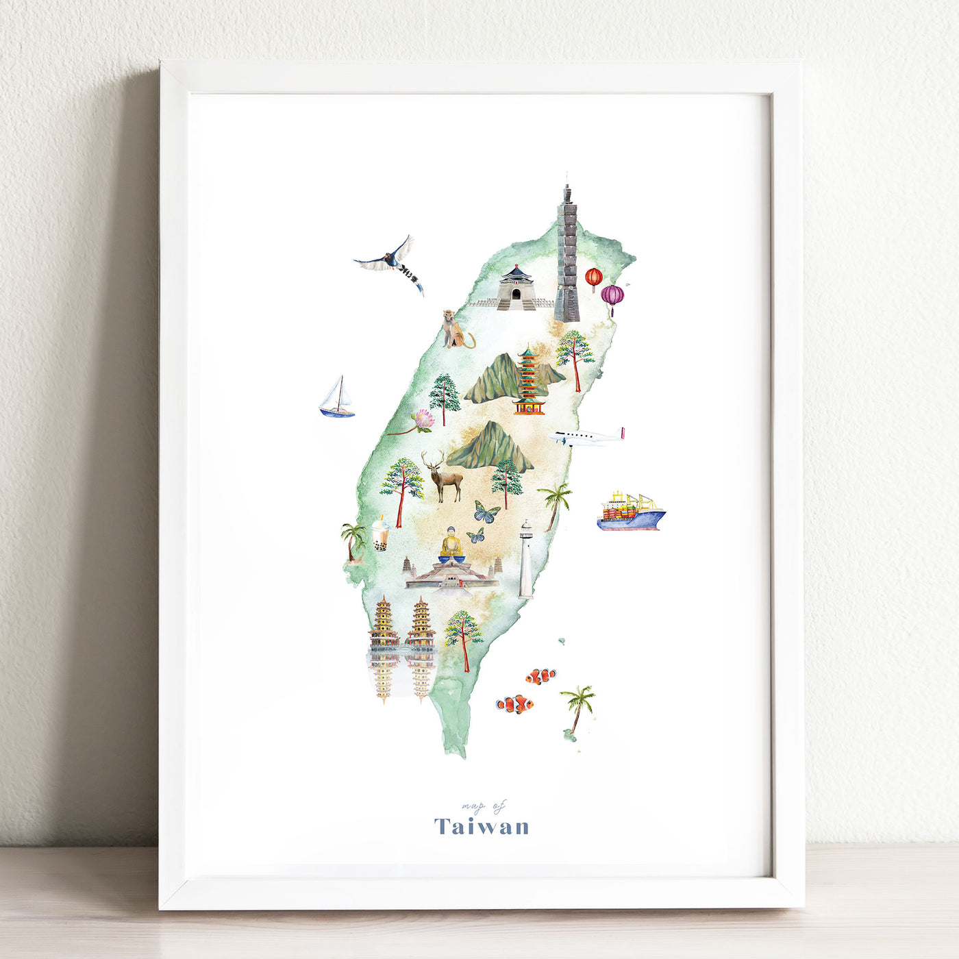 Taiwan Illustrated Map