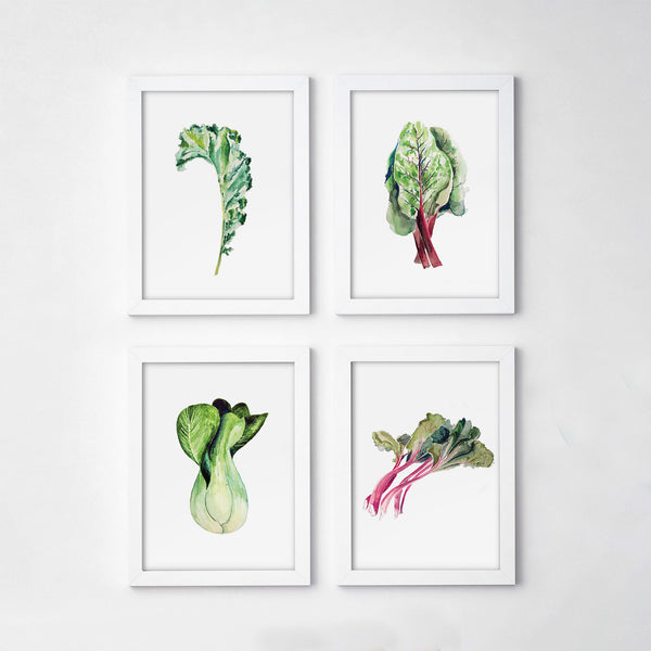 Vegetable Gallery Art Print Set