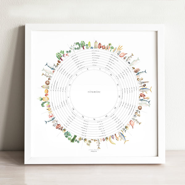 Vitamin Wheel Art Print