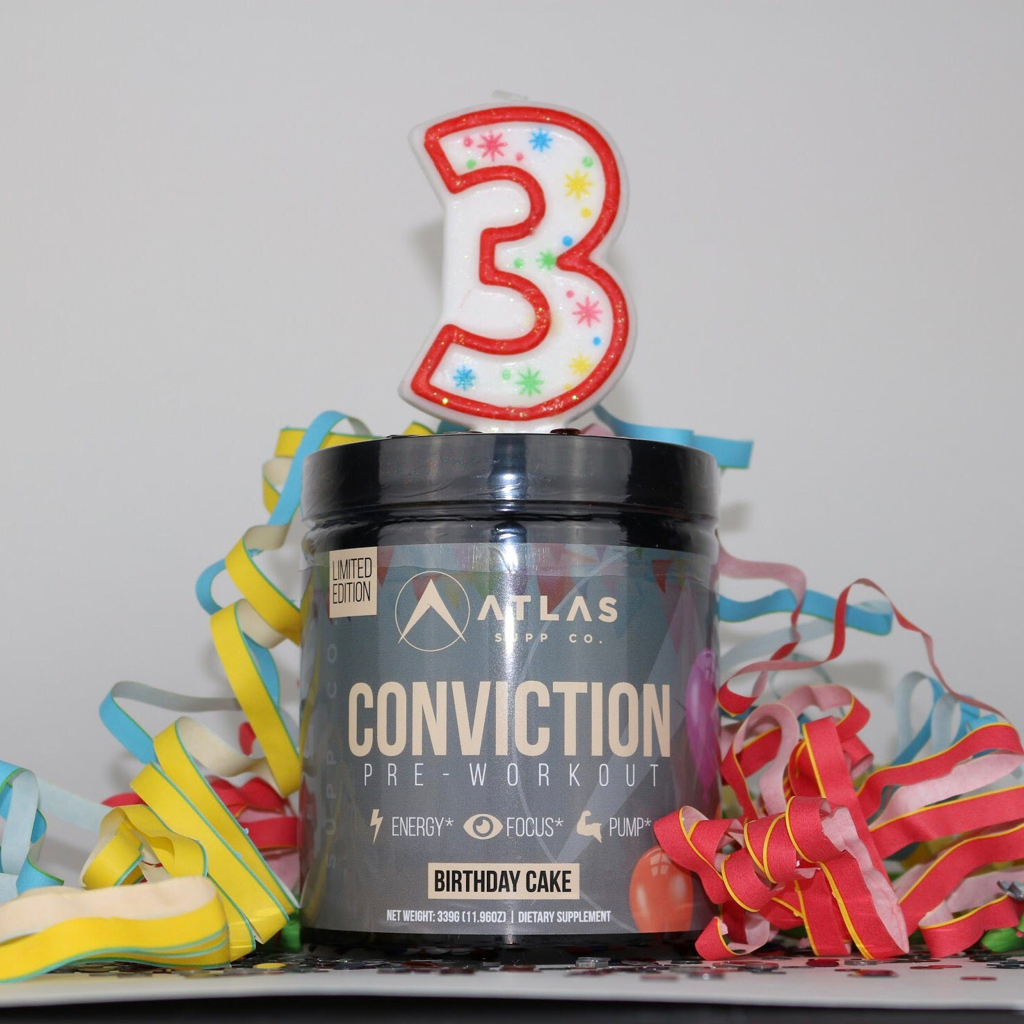 LIMITED EDITION Conviction Birthday Cake Atlas Supp Co