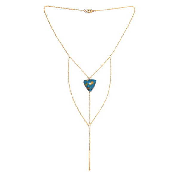 Collier triangle Turquoise