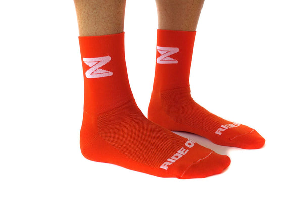 Zwift Socks - Orange - Zwift Online Store - 1