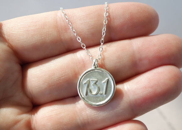 13.1 Miles Necklace - Love to Run Collection