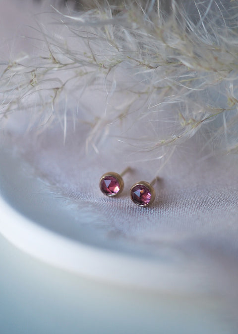 14k Gold - Vega Earrings - Pink Tourmaline