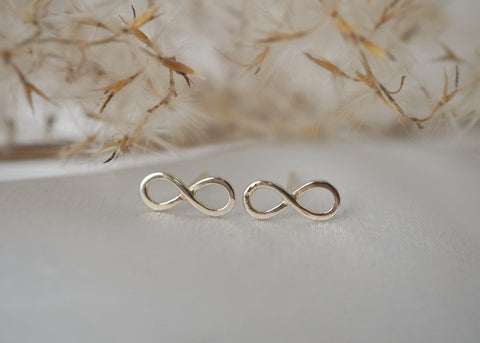 14k Gold Infinity Post Earrings