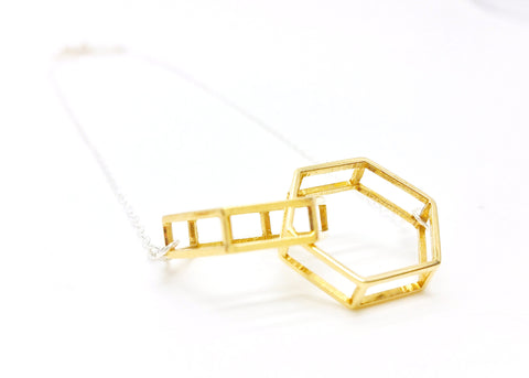 Interlocking Hexagon Necklace - LanaBetty Designs - 1
