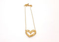 Love Heart Necklace (Raw Brass) - LanaBetty Designs - 2