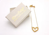 Love Heart Necklace (Raw Brass) - LanaBetty Designs - 3