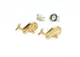 Little Whale Brass Earrings