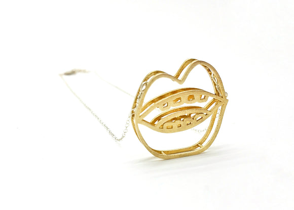 Hot Lips Necklace