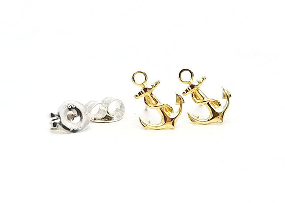 Little Anchor Post Earrings