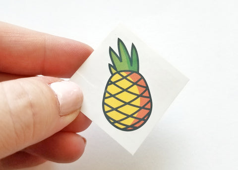 Pineapple Temporary Tattoo