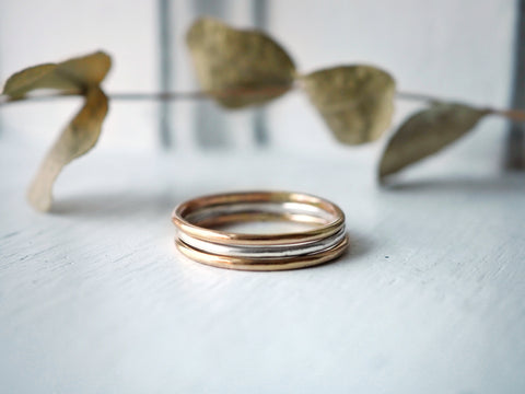 Andromeda Smooth Stacking Ring