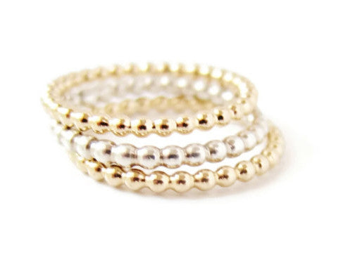 Orion Beaded Stacking Ring