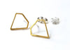 Geometric Diamond Post Earrings