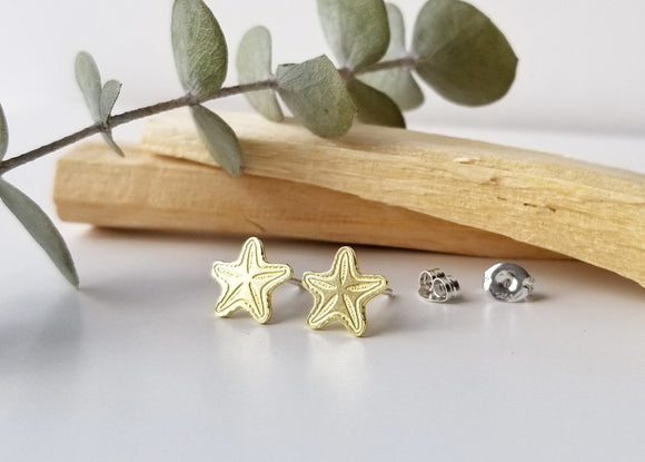 Starfish Brass Earrings