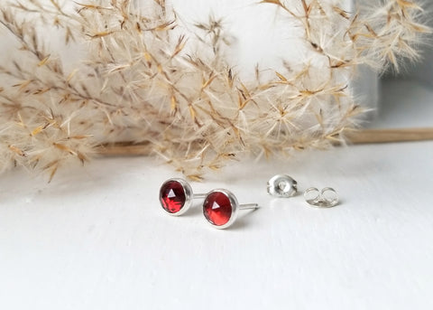 Cygnus Gemstone Earrings - 6mm