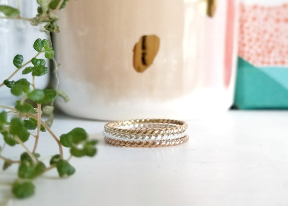 Equuleus Twisted Stacking Ring