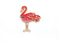 Friendly Flamingo Lapel Pin - Dark Pink