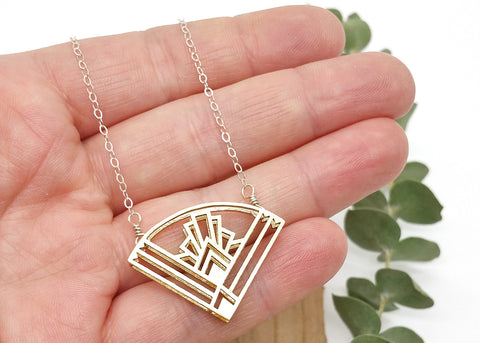 Gatsby Fan Necklace - Art Deco