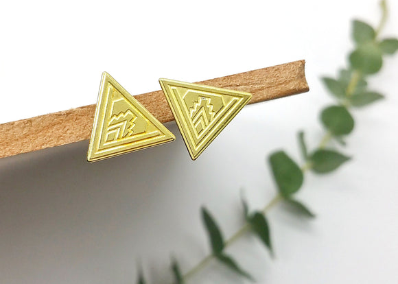 Plymouth Triangle Earrings