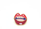 Hot Lips Lapel Pin - Classic Red