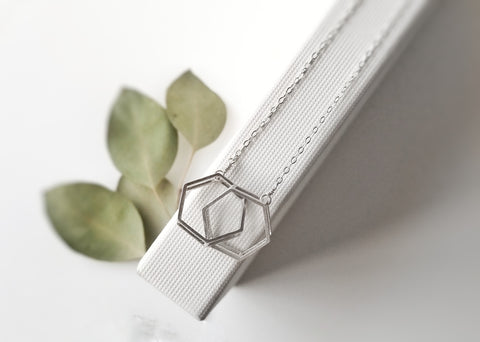 Interlocked Hexagon Necklace