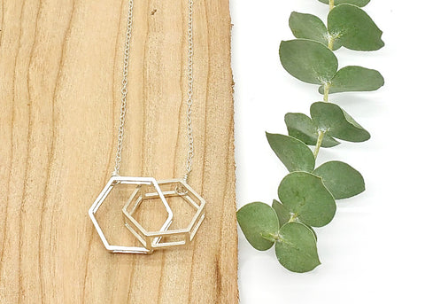 Interlocking Hexagon Necklace
