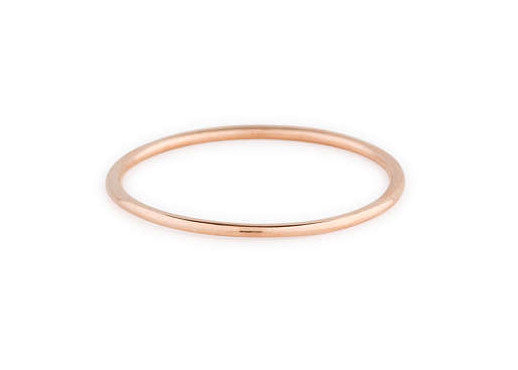 Subtle Smooth Stacking Ring