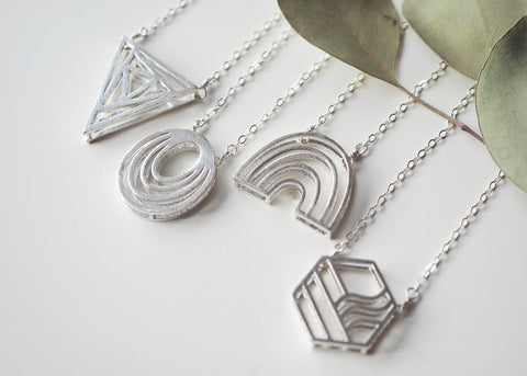 Hexagon Necklace - Short
