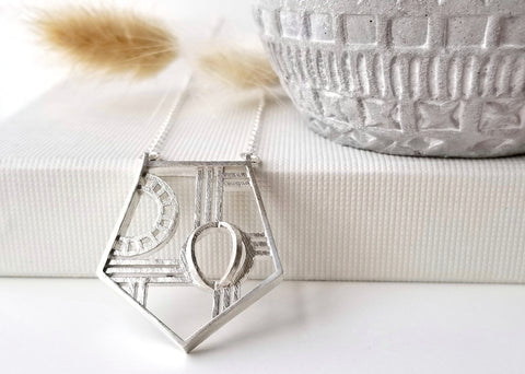 Manhattan Necklace - Art Deco - Long