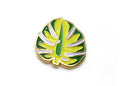 Monstera Leaf Lapel Pin - Chartreuse