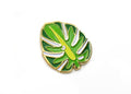 Monstera Leaf Lapel Pin - Dark Green